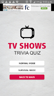 TV shows Triva Quiz - screenshot