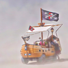 Oh the places you will go  by Costa Panagopoulos - Transportation Boats ( blackrockcity, desert, playa, festival, artcart )