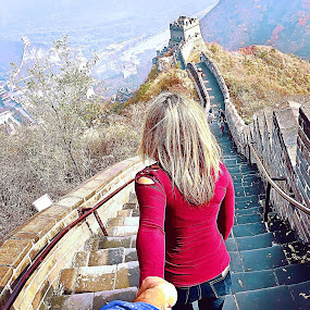 Great Wall of china by Victor Quinones - Buildings & Architecture Public & Historical ( china beijing great wall )
