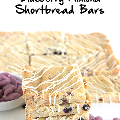 Blueberry Almond Shortbread Bars