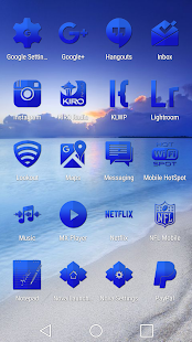 Tap Blue - Icon Pack- screenshot thumbnail