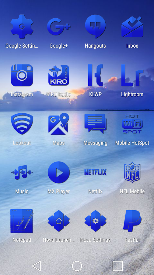 Tap Blue - Icon Pack Screenshot 3