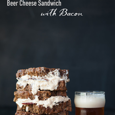 Beer Bread Grilled Beer Cheese Sandwich with Bacon
