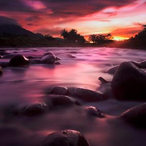 morning sunrise  by Rahmad Himawan - Landscapes Waterscapes ( sky, waterscape, sunset, sunrise, landscape,  )
