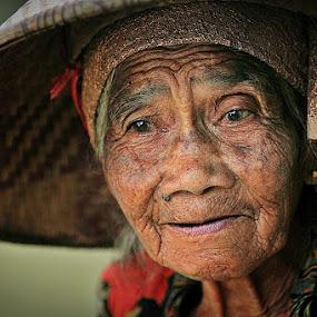 by Kuswarjono Kamal - People Portraits of Women ( senior citizen )