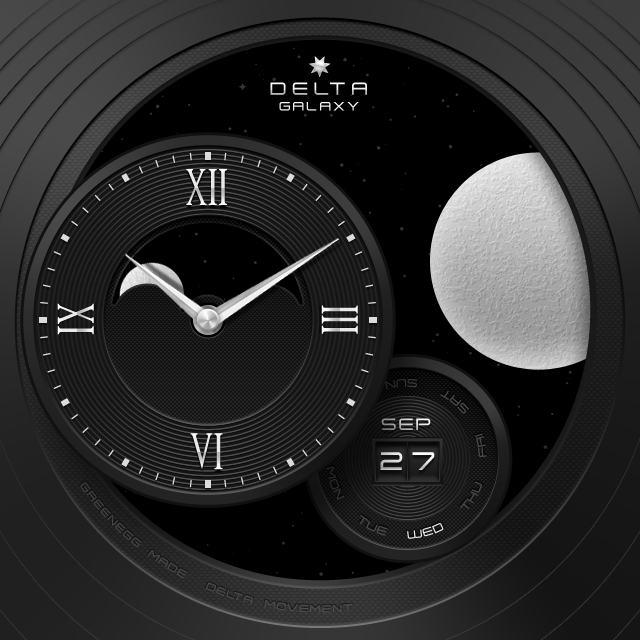 Galaxy watchface by Delta Screenshot 5