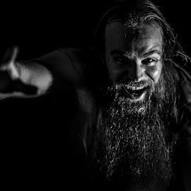 Selfie From Shadows by Veli-Matti Virtanen - People Portraits of Men