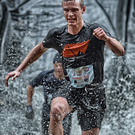 I Want It All ! by Marco Bertamé - Sports & Fitness Other Sports ( water, 1197, splatter, splash, differdange, 2015, concentrated, number, waterdrops, running, luxembourg, red, strong, drops, determined, strongmanrun, drbizeps, man, black )