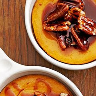 Sweet-Potato Spoon Bread with Caramel-Pecan Topping