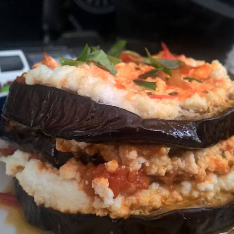 Eggplant Parmesan Stacks Cheap and Easy!