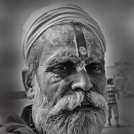 the walker by Arnab Bhattacharyya - People Portraits of Men