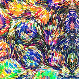 Tilt-A-Whirl by Allen Crenshaw - Abstract Patterns ( abstract, colors, digital art )