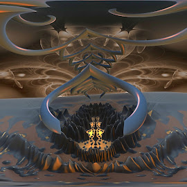 The Deaf Echo by Rick Eskridge - Illustration Abstract & Patterns ( jwildfire, mb3d, fractal, acdsee 19, twisted brush )