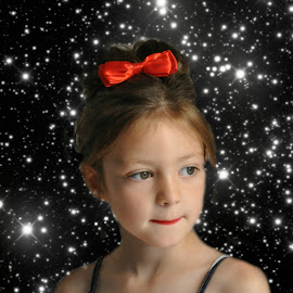 glamour by Susan Davies - Babies & Children Child Portraits ( child, thoughtful, glamerous, twinkle, sters, pretty )