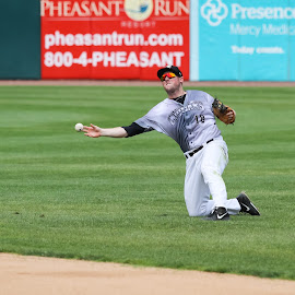 Finish the Play by Todd Dubé - Sports & Fitness Baseball ( throw, baseball, sports, summer, minor league, chicago, professional baseball, milb, mlb )