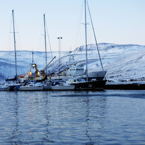 Isafjordur harbour  by My 1st Impressions - Landscapes Travel ( water, iceland, harbours, winter, travel, landscape )