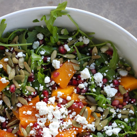 Winter Arugula Salad with Butternut Squash