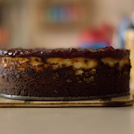 NYC cheesecake by Szabolcs Dudás - Food & Drink Cooking & Baking ( cheesecake, cake, nyc, dessert )