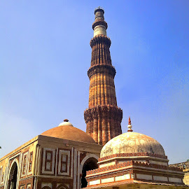 Qutub Minar, Delhi, India by Asif Bora - Instagram & Mobile Other