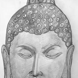 Buddhang sharanang gacchami by Pritam Bhowmick - Drawing All Drawing