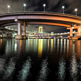 Circular of Rainbow Bridge by Nyoman Sundra - Buildings & Architecture Bridges & Suspended Structures ( japan, tokyo, architecture, bridge, rainbow )