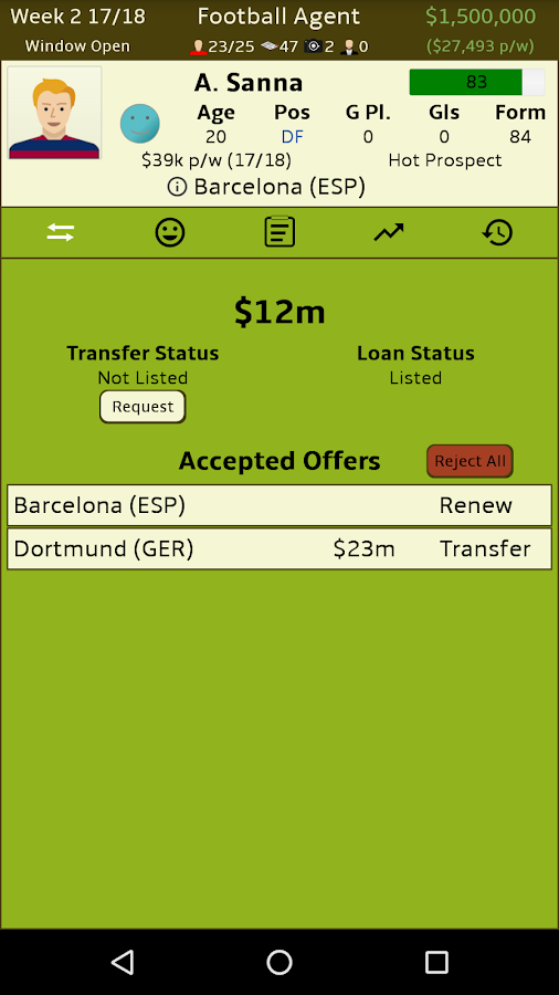 Football Agent Screenshot 1