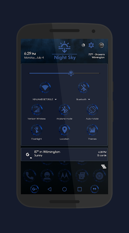 Night Sky - DU_CM12_CM13 Theme Screenshot 1