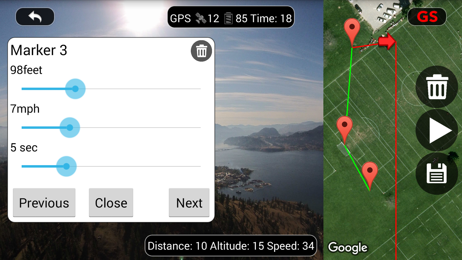 DJI Phantom Flight (v2) Screenshot 2