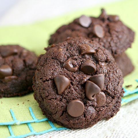 Whole Wheat Double Chocolate Brownie Cookies