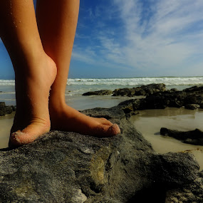 Dirty Feet by Domenic Gorin - People Body Parts ( water, body parts, hands, feet, beach )