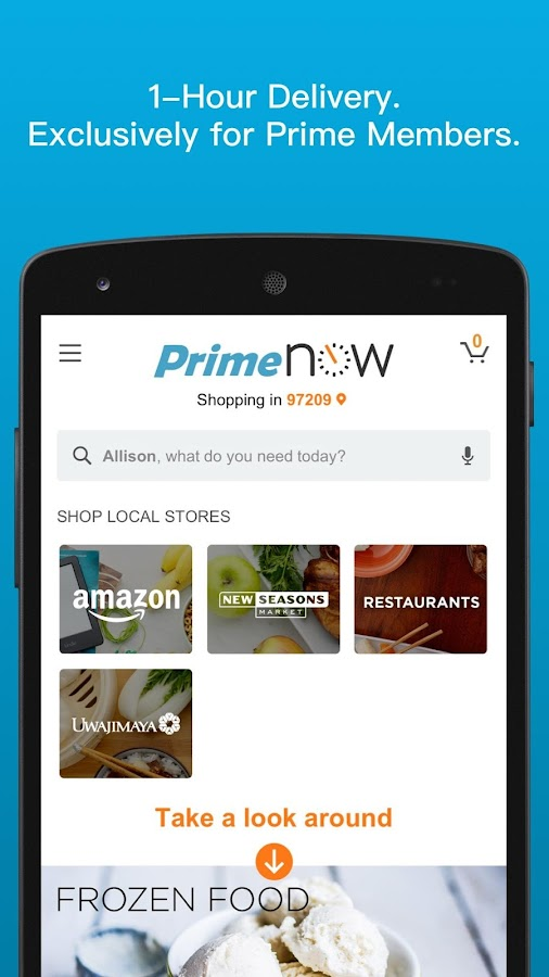 Amazon Prime Now Screenshot 0