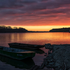 Sunrise over Danube by Vanja Vidaković - Landscapes Sunsets & Sunrises