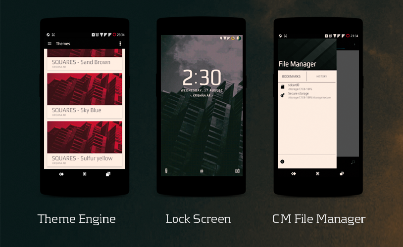 SquaresCM13 theme Screenshot 2