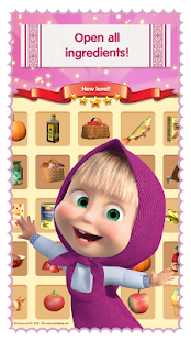 Masha Cooking dash and dinner apk screenshot
