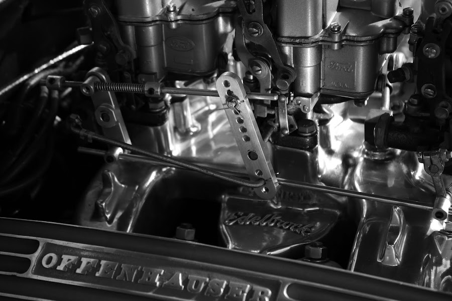 Engine by Jay Woolwine Photography - Products & Objects Industrial Objects ( b&w, classic car, engine, cylinder, block, barrell )