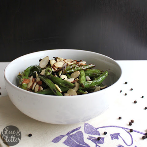 Frizzled Green Beans Almondine with Black Peppercorns