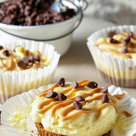 Mini No Bake Chocolate Peanut Butter Cheesecakes
