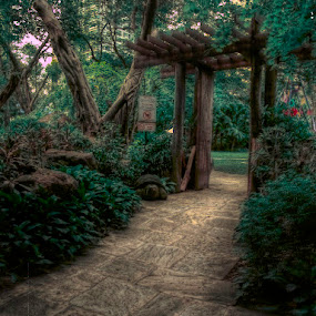 by Reagan Estrella - City,  Street & Park  City Parks ( wood, hdr, park, nature, green, door, garden, entrance, gate, watercolour, painting, photographs, skills, photoshop, program, pen, technical,  )