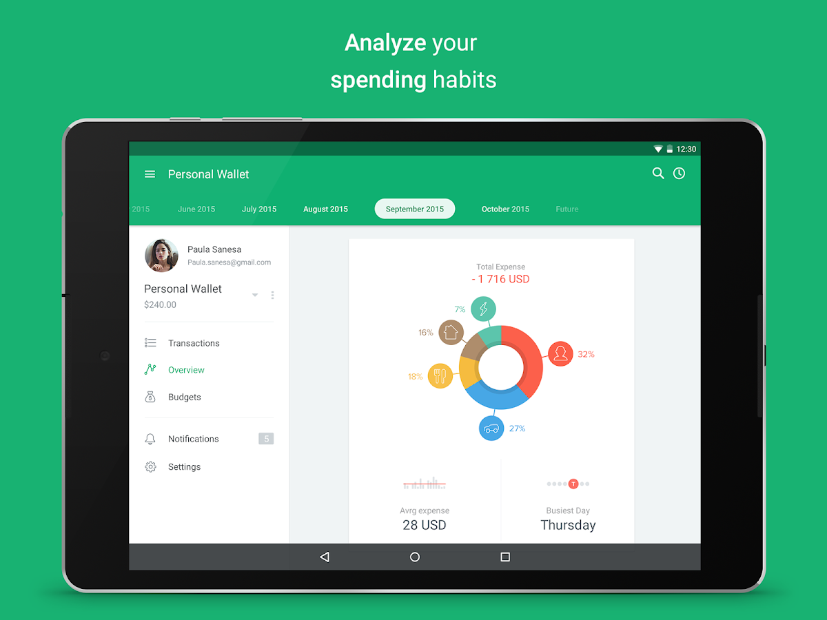 Spendee - budget and expense tracking & bank sync Screenshot 8