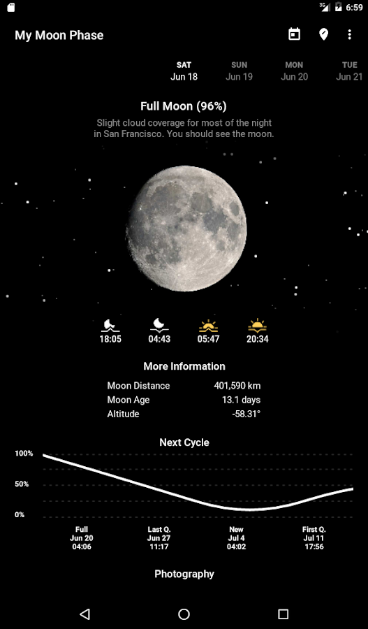 My Moon Phase Pro Screenshot 4