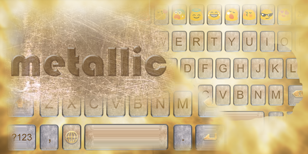 Metallic Keyboard Emoji - screenshot