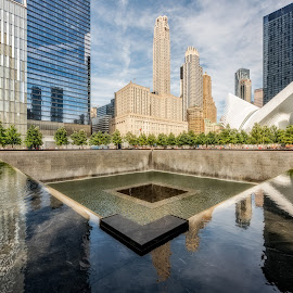 Reflecting  Pool by Linda Karlin - Buildings & Architecture Public & Historical ( memorial, architecture )