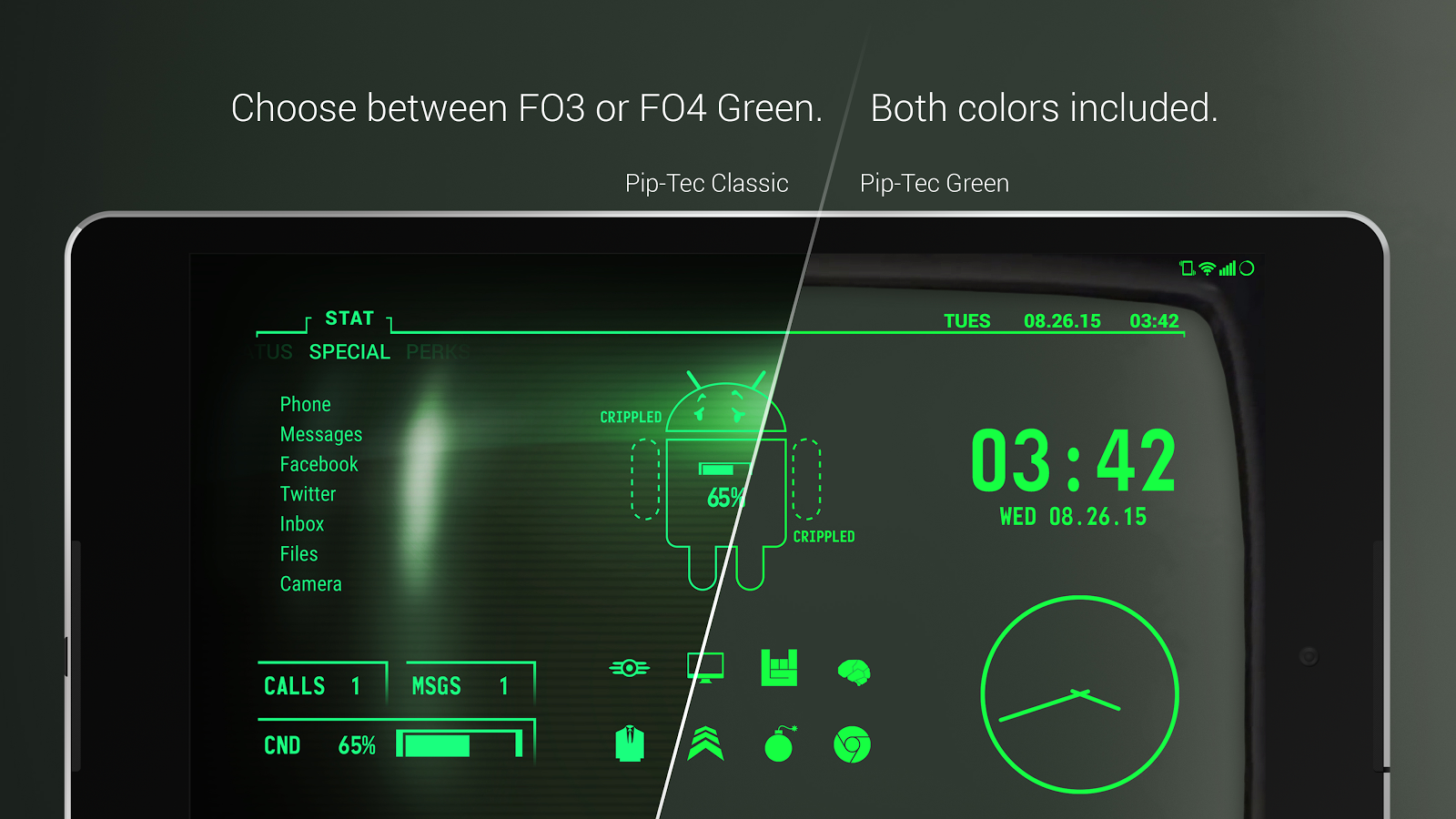 PipTec Green Icons & Live Wall Screenshot 10