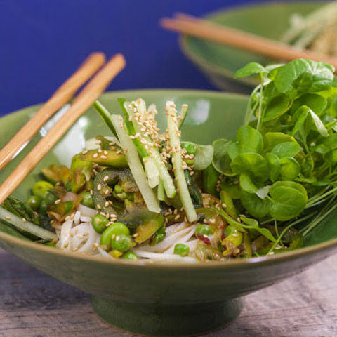 Noodle Bowls With Green Veggies