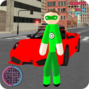 Green Stickman Rope Hero Gangstar Crime For PC