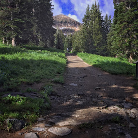A hike to the top by Jeannie Matteson - Landscapes Mountains & Hills