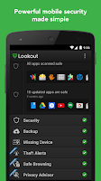 Screenshot of Lookout Security & Antivirus
