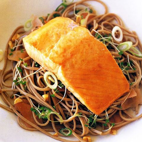 Miso-glazed Salmon With Ginger Buckwheat Noodles