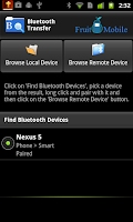 Screenshot of Bluetooth Transfer Trial