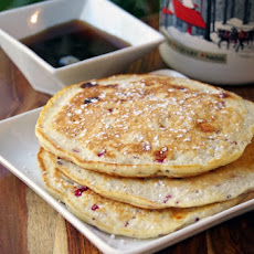 Cranberry and Macadamia Nut Pancake Recipe with White Chocolate Chips